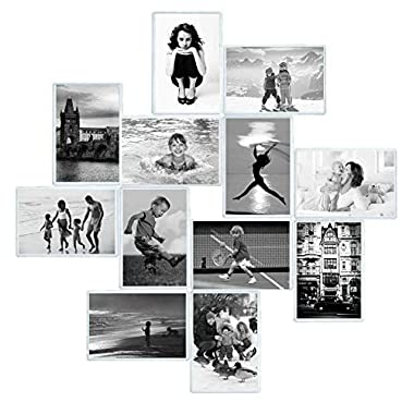 Magnetic Photo Pocket Frame, Holds 4 x 6 Inches Photo for Refrigerator, Picture Frames with Double-Sided Adhesive for Wall, Kitchen, Locker, or File Cabinet
