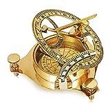 Ideas regnicas de regalos de cumpleaños Latón macizo Reloj de sol clásico Brújula Senderismo Escalada Ciclismo Caza Camping Brújula de supervivencia Navegación