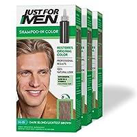 Just for Men オリジナルフォーミュラメンズヘアカラー、ダークブロンド軽量ブラウン(3パック) 3パック 02ダークブロンド