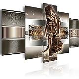 murando Quadro 200x100 cm Stampa su Tela in TNT XXL Immagini Moderni Murale Fotografia Grafica Decorazione da Parete 5 Pezzi Budda 020113-289
