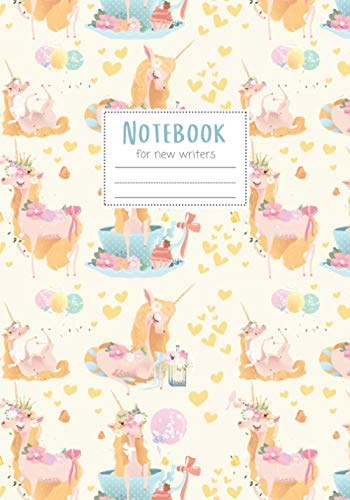 Notebook: Maggie Squeak Kids - Magical Mermaids and Friends Primary Notebook with Skip Line Ruling