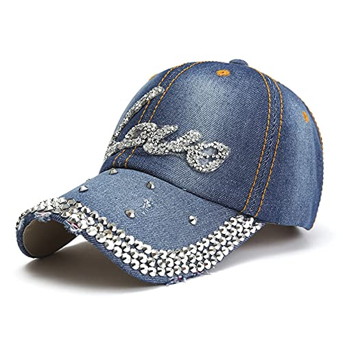 Tanxianlu Gorra Gorras Beisbol Gorras de béisbol para Mujer, diseño de Lentejuelas de algodón con teselación, Sombreros de Vaquero, Sombreros para el Sol, Sombrero niñas de Marea,A