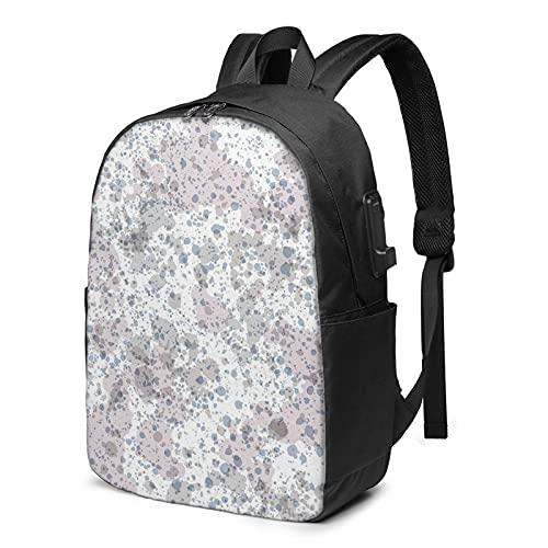 BYTKMFD Mochila de viaje con patrón de panda, mochila para ordenador portátil, para hombre y mujer, extra grande, antirrobo, con puerto de carga USB de 17 pulgadas, Con textura, Talla única