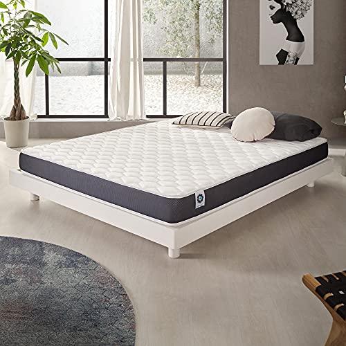Naturalex | Ergolatex | Colchón 135x190 Cm Calidad Duradera | Adaptabilidad y Confort Equilibrado | Capsulas Refrescantes MemoFeel | Tecnología Blue-Látex Ultima Generación | 7 Zonas de Confort