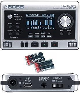 BOSS Micro BR BR-80 de 8 pistas grabadora digital y 4 pilas AA Libre Universal Electronics Bundle