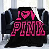 Victoria Secret Love Pink Dog Heart Adult Kids Fleece Blanket Ultra-Soft Micro for Couch Or Bed Warm Throw Blanket