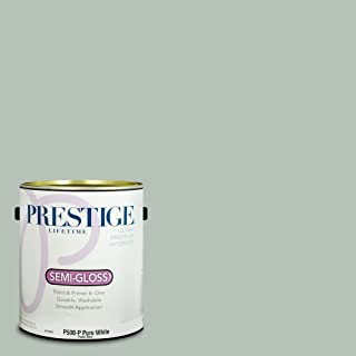 Prestige Paints P500-P-MQ6-18 Interior Paint and Primer in One, 1-Gallon, Semi-Gloss, Comparable Match of Behr Recycled Glass, 1 Gallon, B35-Recycled