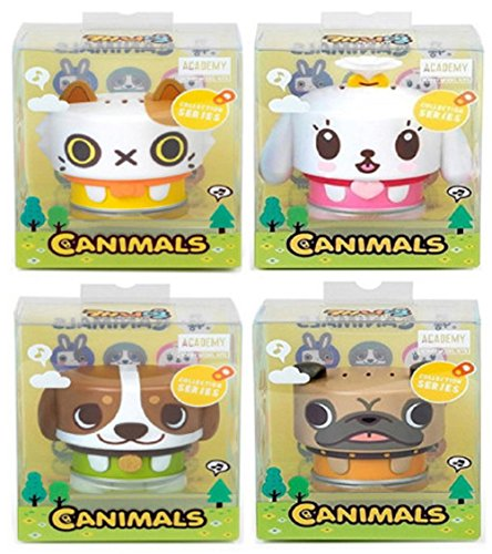 canimal Collection 6 Figure Set Most Cute 4 Items Nia, Mimi, Ato and Uly!! Academy Core Set, Kidult lovely gift (4EA)