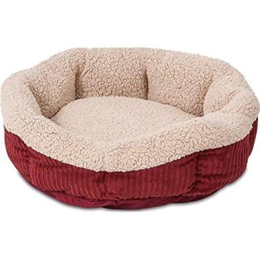Aspen Pet Self-Warming Corduroy Pet Bed Several Shapes Assorted Colors