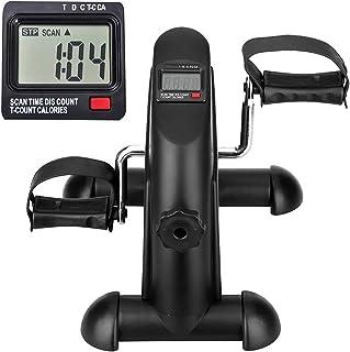 himaly Mini träningscykel bärbar hemsedal träning gym fitness ben arm konditionsträning justerbar motstånd med LCD-display