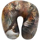 KDU Fashion Almohada Cuello,Eagle con Almohada En Forma De U Tiger Tiger Cojín De Espuma De Memoria para Correr Escalada Viajar