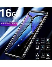Alician BENJIE M6 Bluetooth 5.0 Lossless MP3 Player HiFiポータブルオーディオプレーヤー、FMラジオ、電子書籍ボイスレコーダー、MP3音楽プレーヤー Bluetoothバージョンなしで16GB ブラック