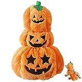 ZOYLINK Disfraz De Halloween para Mascotas, Disfraz De Calabaza, Adorable, Divertido, a La Moda, Ropa De Cosplay para Perros, Traje De Fiesta para Gatos