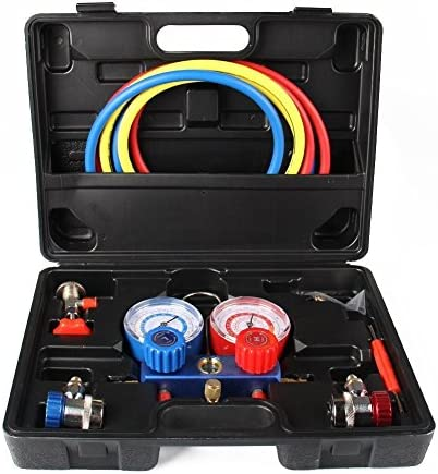 AC Refrigeration Kit A C Manifold Gauge Set for Air R12 R22 R134a 410a R404z By TINGAO product image