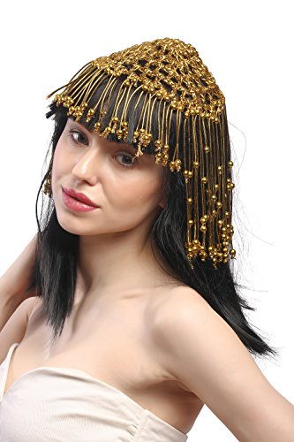 WIG ME UP- 60264-P103 Peluca seora Carnaval Cleopatra cortesana Harem 20s Glamour 1001 Noches Negro