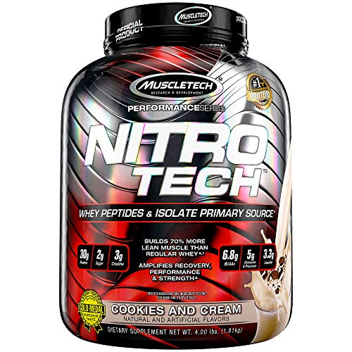 Muscletech Supplemento Nutrizionale Nitro Tech Performance Series 4 lb, Biscotti e Crema- 1800 gr