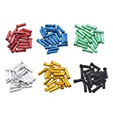JooFn 120 PCS Brake Cable Caps Bike Shift Cable Gear Wire End Tips Crimp for Road Mountain Bikes, 20 PCS for Each Color of...