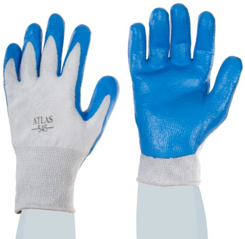 Showa Best 545 Nitrile Palm Coating Glove, 13-Gauge Seamless HPPE Fiber Liner, Cut Resistant, Large  (Pack of 12 Pairs)