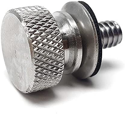 Krator Silver Seat Bolt Time sale Cover Knurled Sales Compatible Screw