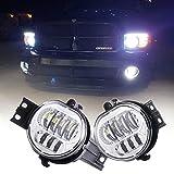 Z-OFFROAD - 2 faros antiniebla LED para Dodge Ram 1500 2500 3500 Durango, lado del conductor y del pasajero, cromado