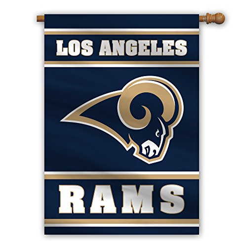Fremont Die NFL Los Angeles Rams 2-Sided House Flag, 28' x 40', 28' x 40', Team Colors
