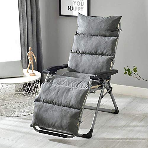 N / A Cushion Garden Salon De Chair Thick Breathable Washable Cushion Swing from Chair with, Non Slip Pad Sun Lounger, Chaise Lounger Cushion Brown 50x125cm (20x49inch),Grey,50x125cm (20.