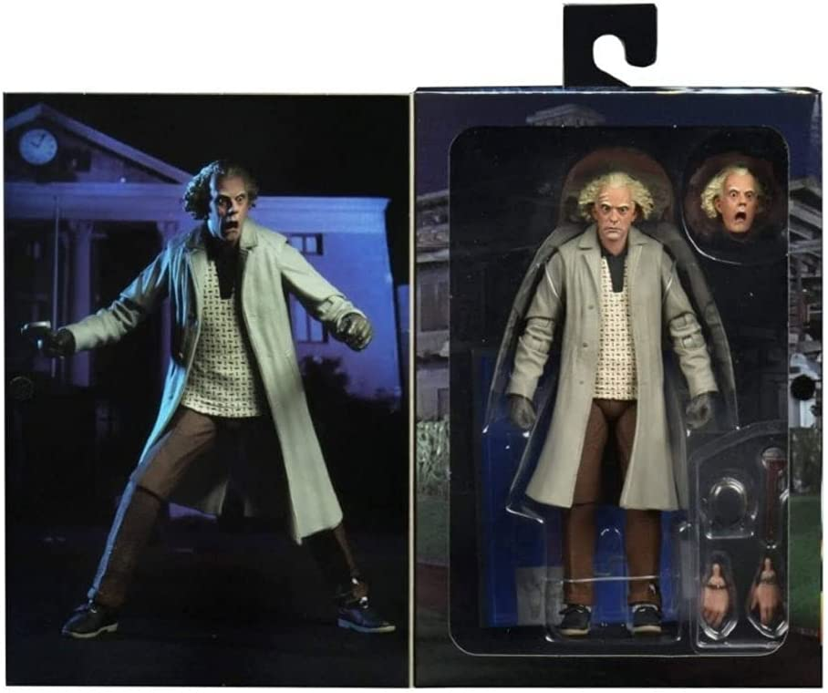 NECA Back to The Future Doc Brown Action Figure [Ultimate Version, Wrench,...