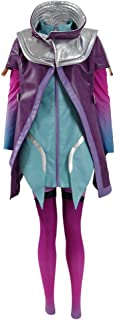 Sombra Costume Halloween Cosplay Party PU Jacket Outfit Full Set for Women