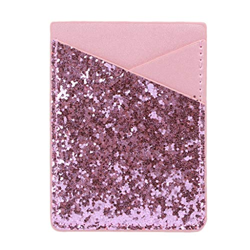 niumanery lederen credit card houder mobiele telefoon portemonnee Pocket Sticker kleefzak hoesje goud