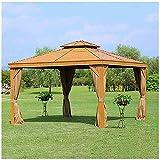SUN RNPP Patio Gazebo, 3x4m Aluminum Alloy Chalet Outdoor Awning Outdoor Gazebo Canopy Party Tent Garden Pavilion Patio Shelter