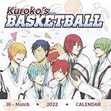 Kuroko s Basketball 2022 Calendar: 16-month Mini Calendar 2022 with large grid for planners! Small Calendar 7x7