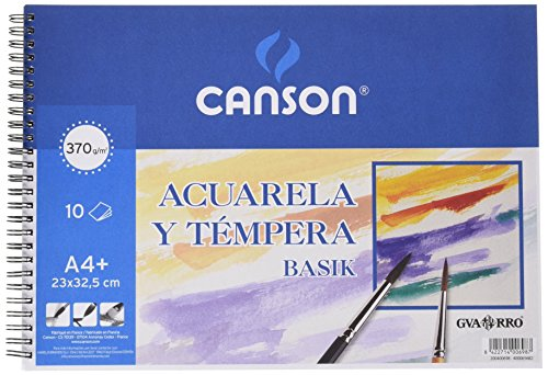 Álbum Espiral, A4+ (23x32,5 cm) 10 Hojas, Guarro Acuarela Basik 370g