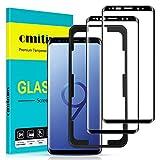 omitium Protector Pantalla para Samsung Galaxy S9, [2 Pack] Samsung Galaxy S9 Cristal Templado [Cobertura máxima] [ [Marco Instalación Fácil] Sin Burbujas Dureza 9H Vidrio Templado Samsung Galaxy S9