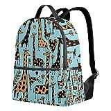 Mochila de jirafa azul para mujeres, adolescentes, niñas, bolso de moda, bolsa de libros, niños, viajes, universidad, casual, para niños preescolares, regreso a casa, suministros mini
