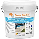 Tecno Prodist REF. 1488 RENOVATEC Corona (5 kg) Blanco Pintura para renovar Bordes de Piscinas o Piedra de coronación-Antideslizante-Antialgas-Buena Calidad-Facil Aplicación