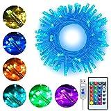 RGB LED Lichterkette 10M 100 LEDs Ollny LED USB Lichterkette 16 Farben 4 Modi mit Fernbedienung & Timer für Weihnachten Partydekoration Geburstag...