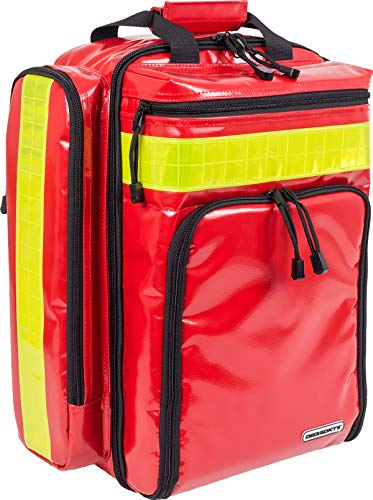 ELITE BAGS Supporter Notfallrucksack (rot, schwarz und blau) (Plane rot)