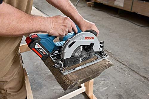 Bosch Professional GKS 18V-57 G Akku-Kreissäge, mit 2 x 18 V 5,0 Ah Akku, Schnitttiefe: 57 mm (bei 90°), L-Boxx, 06016A2100 - 2