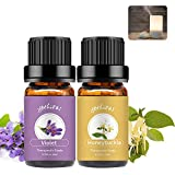 yethious 100% Pure Organic Violet Honeysuckle Essential Oil Set 2 Pack Aromatherapy Gift Oil Kit for Massage,Diffuser