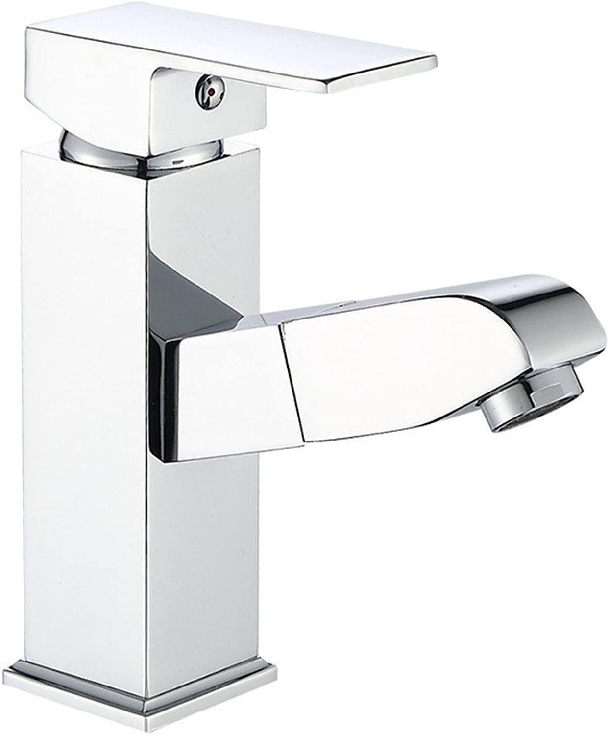 SYW All copper four side pull basin washbasin shampoo telescopic cold and hot faucet modern bathroom sink faucet