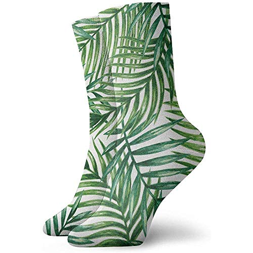 NA Unisex Fun Dress Socks - Kleurrijke Funky Sokken - Tropical Palm Leaves Sokken