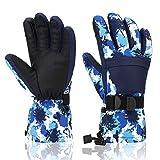 Ski Gloves, Yidomto Winter Waterproof Warm Touchscreen Snow Gloves Mens, Womens, Boys, Girls, Kids (Blue...