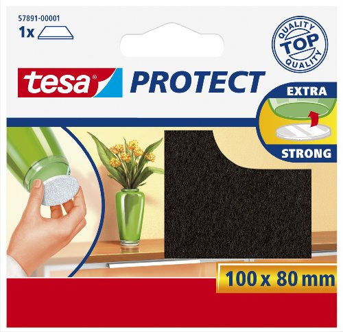 Tesa Protect Filzgleiter, rechteckig, 100mm:80mm, braun, 1 Stück