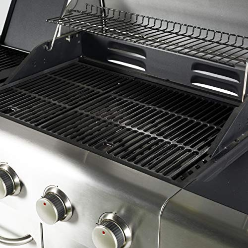 Outback Meteor 4-Burner Gas BBQ with Multi-Cook Plate System - Stainless Steel