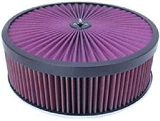 Black 14 x 4 Super Flow Filter Air Cleaner Set Washable Element Dominator Base