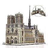 Rompecabezas 3D para Adultos, Kit de Modelo de Catedral de Notre Dame móvil, desafío Grande, Catedral Francesa, Rompecabezas, Arquitectura, Rompecabezas arquitectónico A