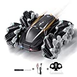 JUOIFIP Remote Control Car RC Cars Stunt Car Toy All Terrain Off Road Headlights 360° Double Sided Rotating Flips Rechargeable RC Drift Car, 4WD 2.4Ghz Stunt Car Gifts for Kids Aged 6-12