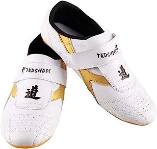 comprar comparacion Dilwe Zapatos de Taekwondo Zapatos de Suela Suave de Cuero de PU para Ejercicio de Gimnasio Taichi Entrenamiento