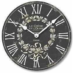 Fairy Freckles Studios Item C2041 Vintage Style French Bistro Clock (12 Inch Diameter)