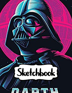 Sketchbook: Series Movies The Force Awakens Duo Blank Sheets Star Wars Gifts Soft Glossy with Blank Lined Paper for Taking Notes Writing Workbook for ... Kids Inexpensive Gift For Boys and Girls